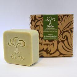 Σαπούνι για μαλλιά της Olea με πράσινη άργυλο και δαφνέλαιο